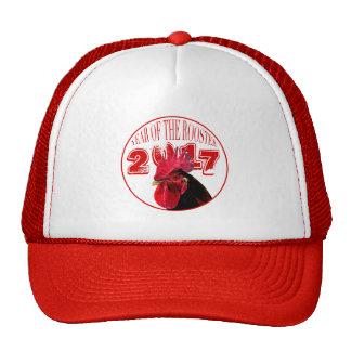 Gorra rojo blanco del año 2017 rústicos del gallo
