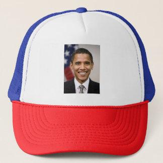 Gorra rojo, blanco, y azul de Barack Obama del