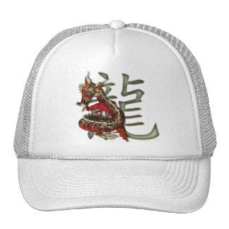 Gorra rojo chino del dragón