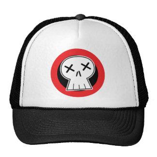 """Gorra rojo del camionero de la blanco del cráneo """""""