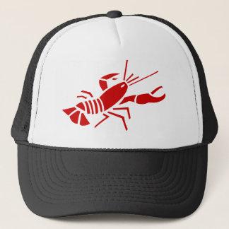 Gorra rojo del camionero de la langosta