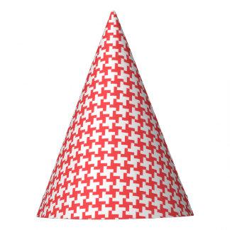 Gorra rojo del fiesta de Houndstooth del carnaval
