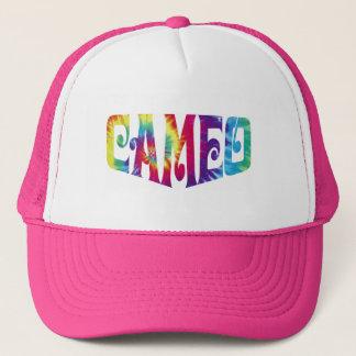 Gorra rosado con el logotipo del camafeo del