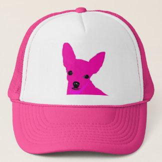 Gorra rosado de la chihuahua