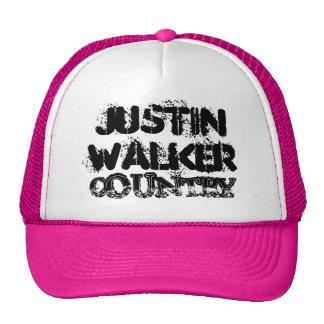 Gorra rosado del camionero del país del caminante