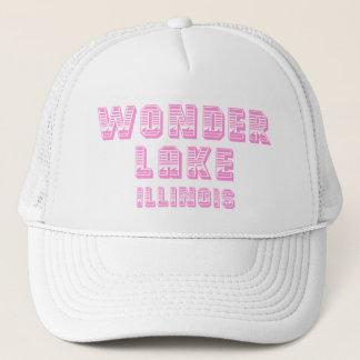 Gorra rosado y blanco de la línea de flotación del