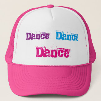 Gorra rosado y blanco del camionero