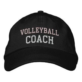 Gorra rosado y blanco del coche del voleibol del
