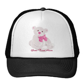 Gorra rosado y blanco del peluche