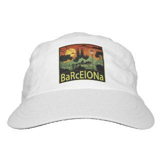 Gorra tejido Barcelona del funcionamiento, blanco Gorra De Alto Rendimiento