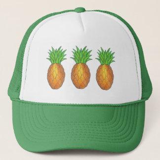Gorra tropical del camionero de las piñas de la