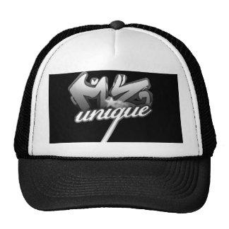 Gorra único del logotipo de MZ (negro/blanco)