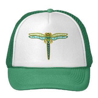 Gorra verde de la libélula