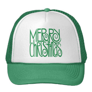 Gorra verde de las Felices Navidad