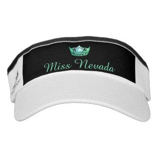 Gorra verde del visera de la corona de Srta.