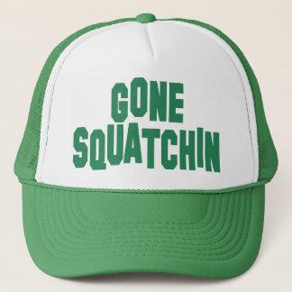 Gorra verde ido del camionero de la broche de la