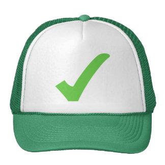 Gorra verde respetuoso del medio ambiente
