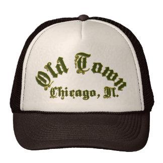 Gorra viejo del camionero de Chicago de la ciudad