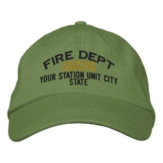 Gorra voluntario del bombero de Personalizable Gorra De Béisbol