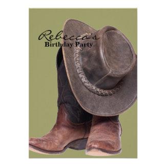 Gorra y botas de vaquero