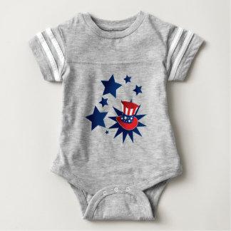Gorra y estrellas del tío Sam Body Para Bebé