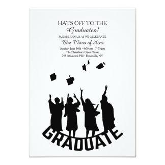 Gorras apagado a la invitación de los graduados