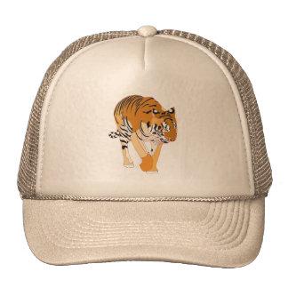 Gorras de la pintura de Digitaces del tigre que ca