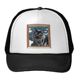 Gorras de la pintura del gato