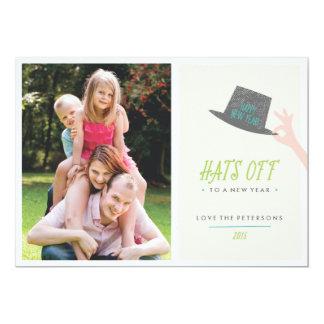 Gorras de la tarjeta del Año Nuevo - cal Invitación 12,7 X 17,8 Cm