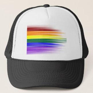 Gorras del camionero de la bandera del arco iris