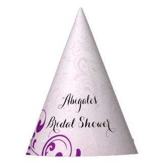 Gorras nupciales púrpuras personalizados del