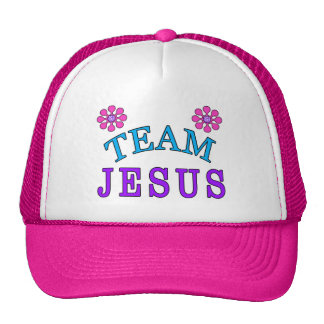 Gorras planos cristianos de Jesús Bill del equipo