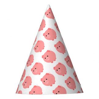 Gorras rechonchos lindos del fiesta del cerdo