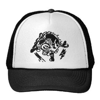 Gorras urbanos de la plantilla del negro del estil
