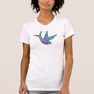 Gorrión de la turquesa grande camiseta