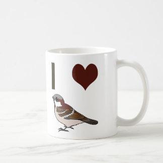 Gorriones del corazón I Taza De Café
