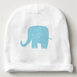 Gorrita tejida azul del bebé del elefante gorrito para bebe