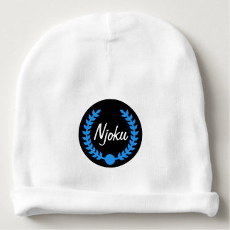 Gorrita tejida azul del niño del logotipo de la gorrito para bebe