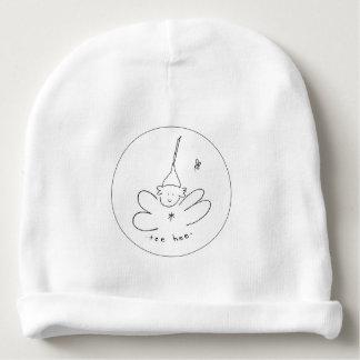 Gorrita tejida blanco y negro del hee de la gorrito para bebe