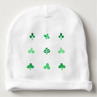 Gorrita tejida del algodón del bebé con las hojas gorrito para bebe