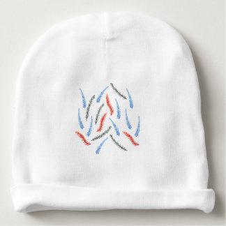 Gorrita tejida del algodón del bebé con las ramas gorrito para bebe