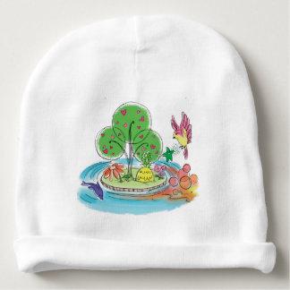 Gorrita tejida del algodón del bebé de la isla de gorrito para bebe