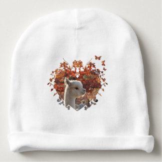 Gorrita tejida del bebé de la alpaca gorrito para bebe