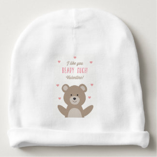 Gorrita tejida del bebé de la tarjeta del día de gorrito para bebe