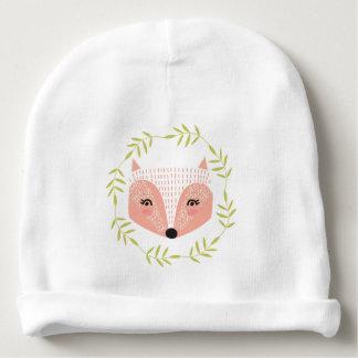 Gorrita tejida hecha frente astuta del algodón del gorrito para bebe