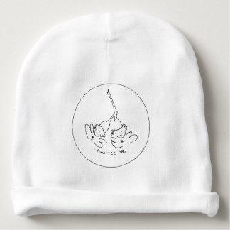 Gorrita tejida negra y del blanco dos de la gorrito para bebe