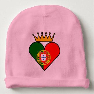 Gorrita tejida portuguesa de los derechos gorrito para bebe