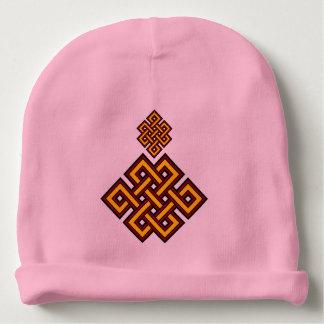 Gorrita tejida rosada del algodón del bebé del gorrito para bebe