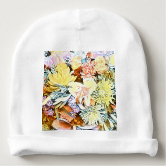 Gorrito Para Bebe 1117 floral suave