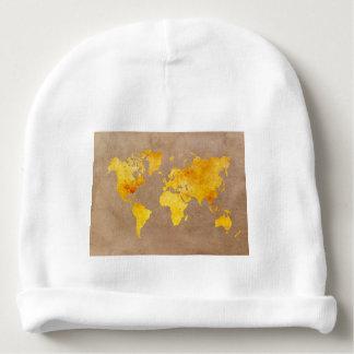 Gorrito Para Bebe amarillo del mapa del mundo
